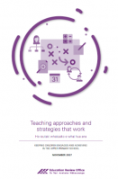 Teaching approaches and strategies that work cover image